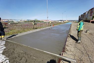 В Анадыре приступили к бетонированию самого протяженного участка дороги